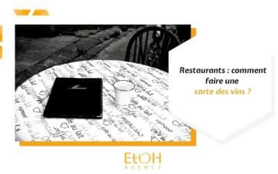 Restaurants : comment faire une carte des vins ?