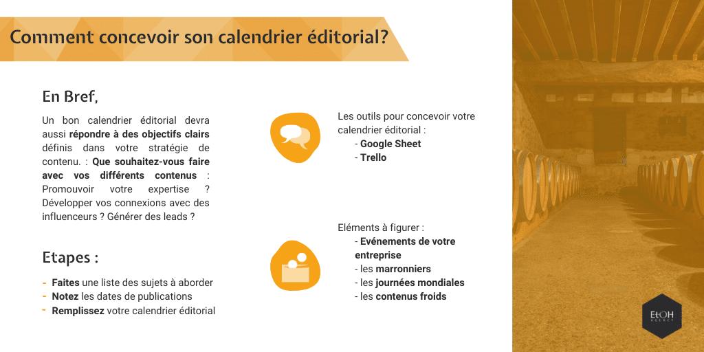 Comment concevoir son calendrier éditorial